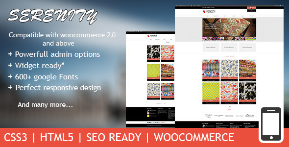 ThemeForest Serenity Premium Wordpress eCommerce Theme 4542410