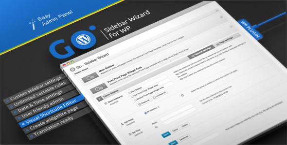 CodeCanyon Go Sidebar Wizard for WP 4551476