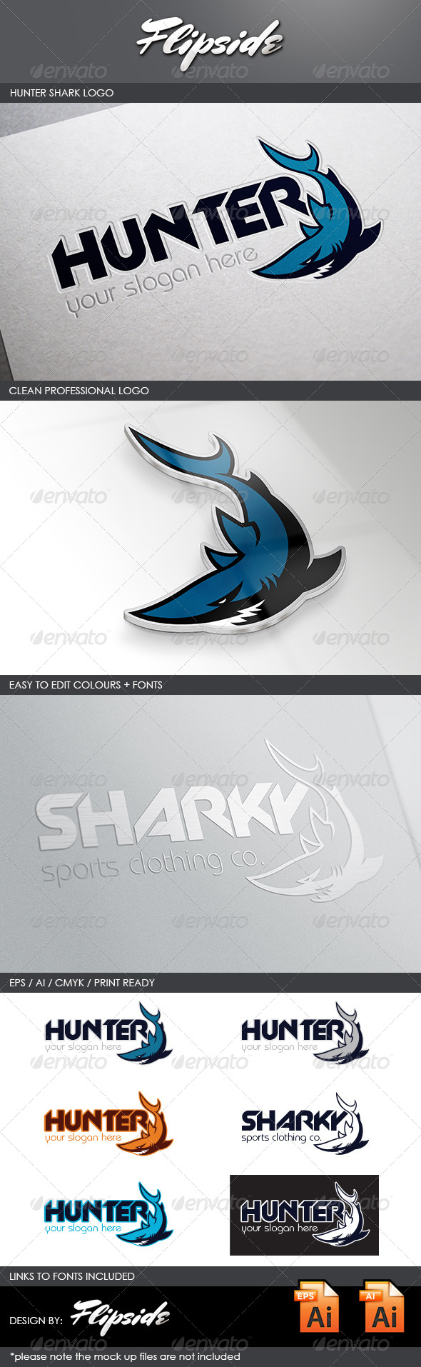 GraphicRiver Hunter Shark Logo 4551507