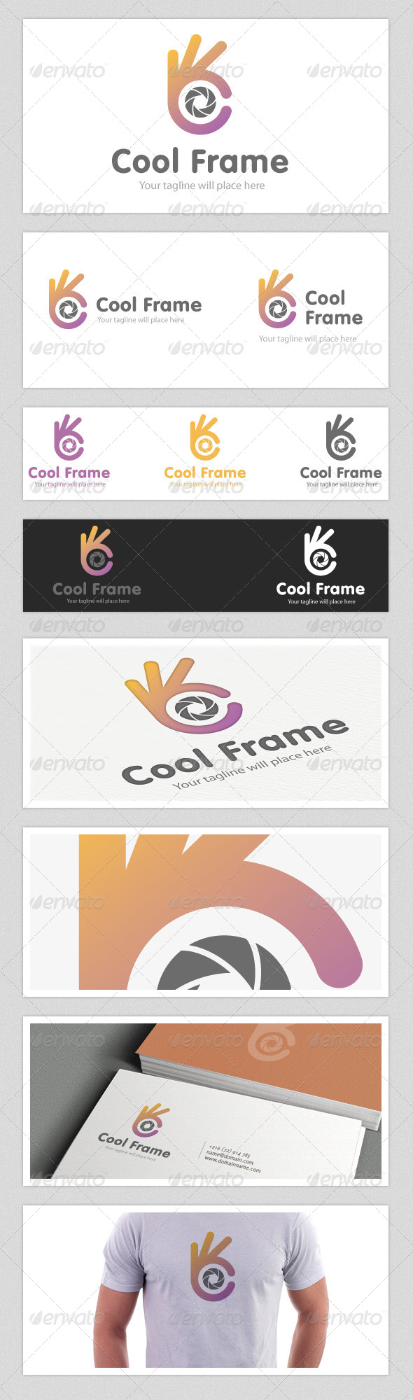 Cool Frame Logo - Vector Abstract