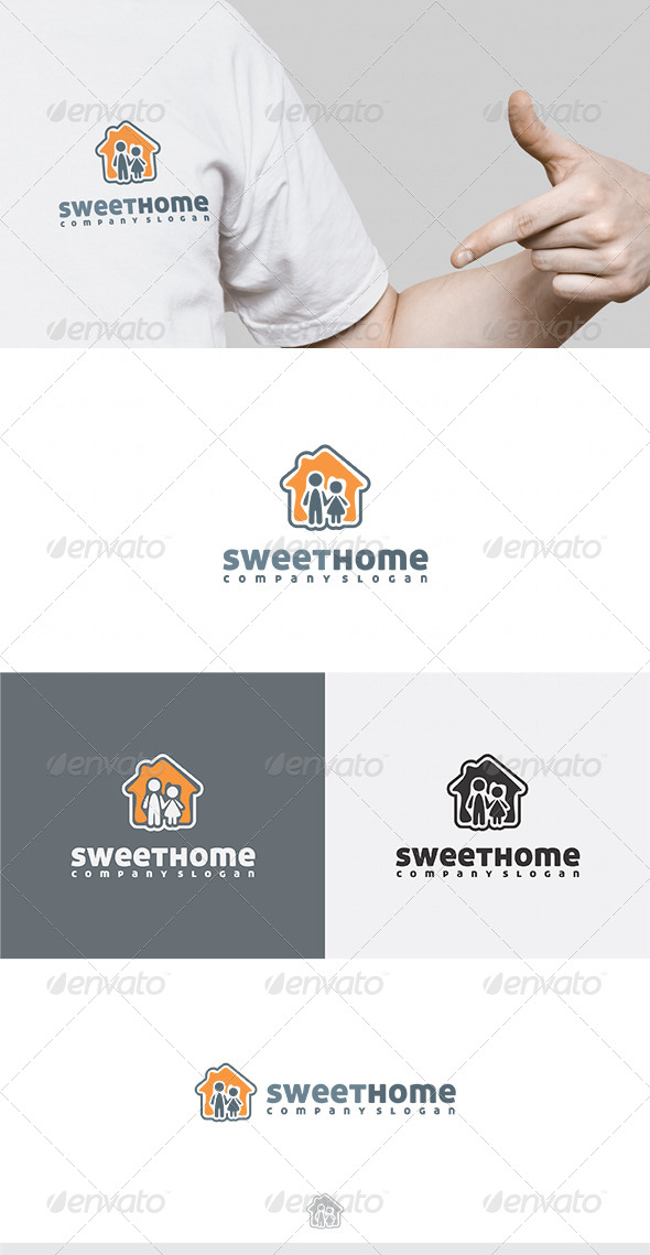 GraphicRiver Sweet Home Logo 4551588
