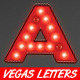 Vegas Casino Style Light Bulb Letters