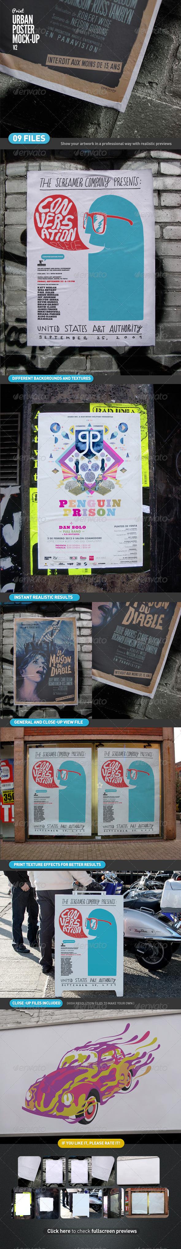 GraphicRiver Urban Poster Mock-Up v2 4551690