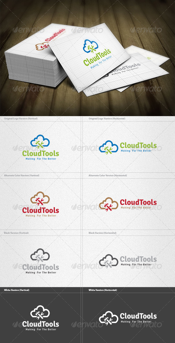 GraphicRiver Cloud Tools Logo 4552479