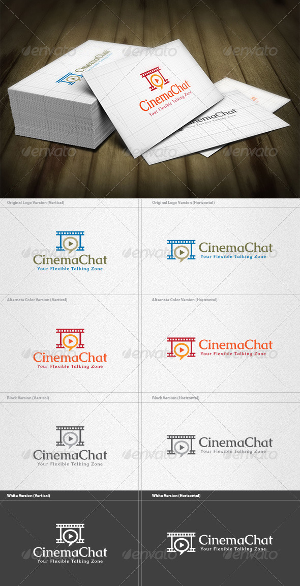 Film Chat Club Logo - Vector Abstract