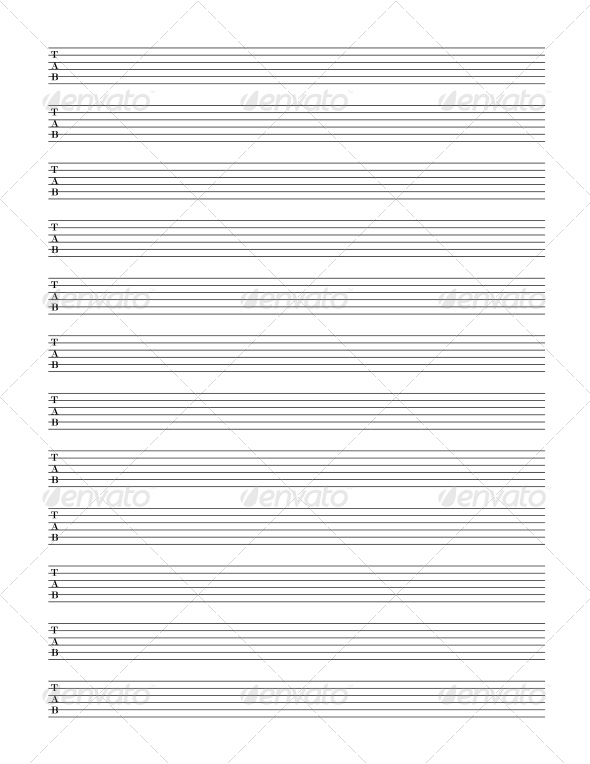 GraphicRiver Guitar TAB Staff 4552564