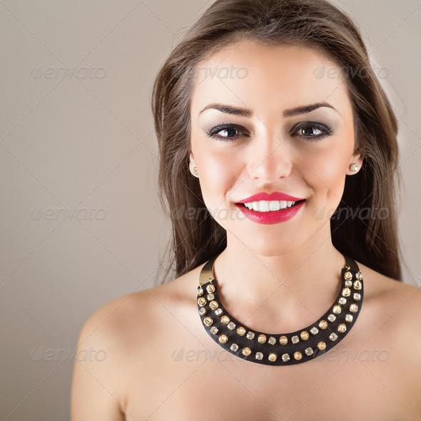 Stylish brunette woman - Stock Photo - Images