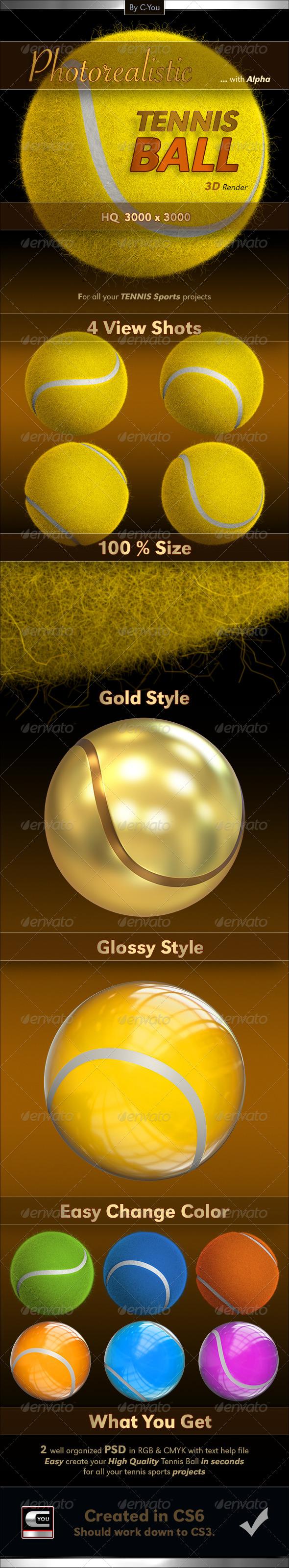 GraphicRiver Tennis Ball 4553112