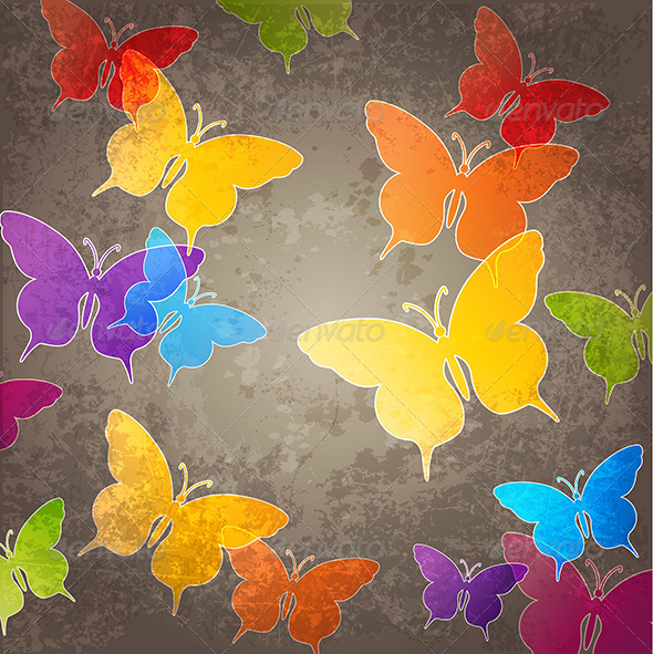 GraphicRiver Abstract Background with Butterfly 4553561