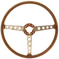 Antique wooden car steering wheel isolated on white - PhotoDune Item for Sale
