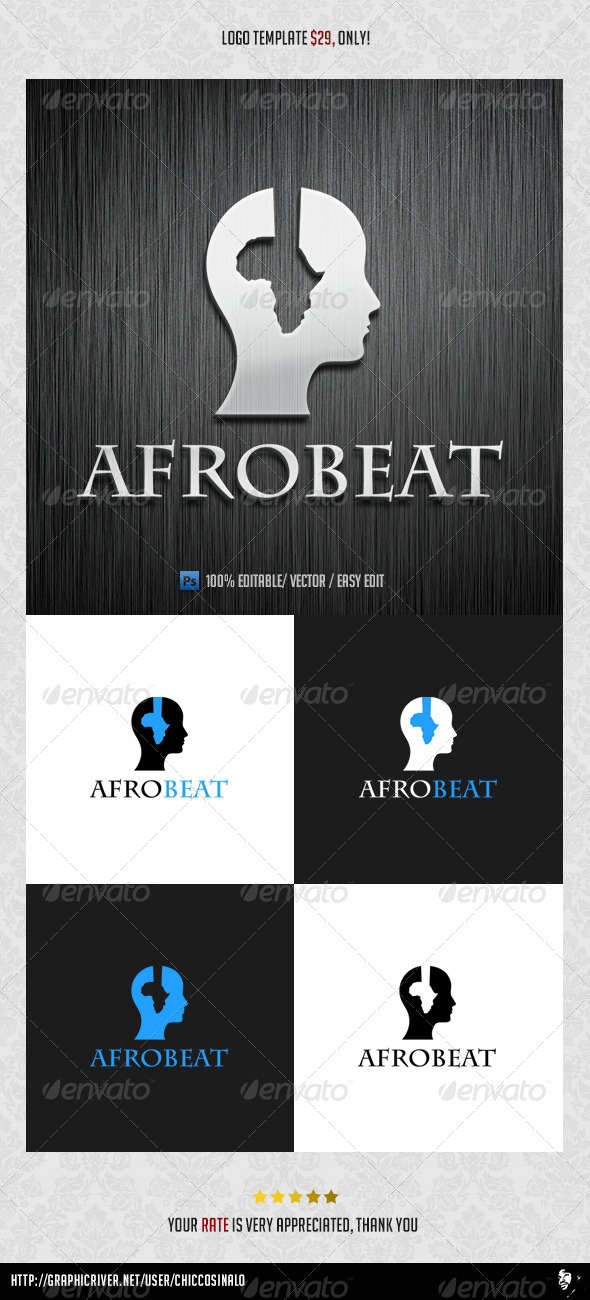 GraphicRiver Afro Beat Logo Template 4553918