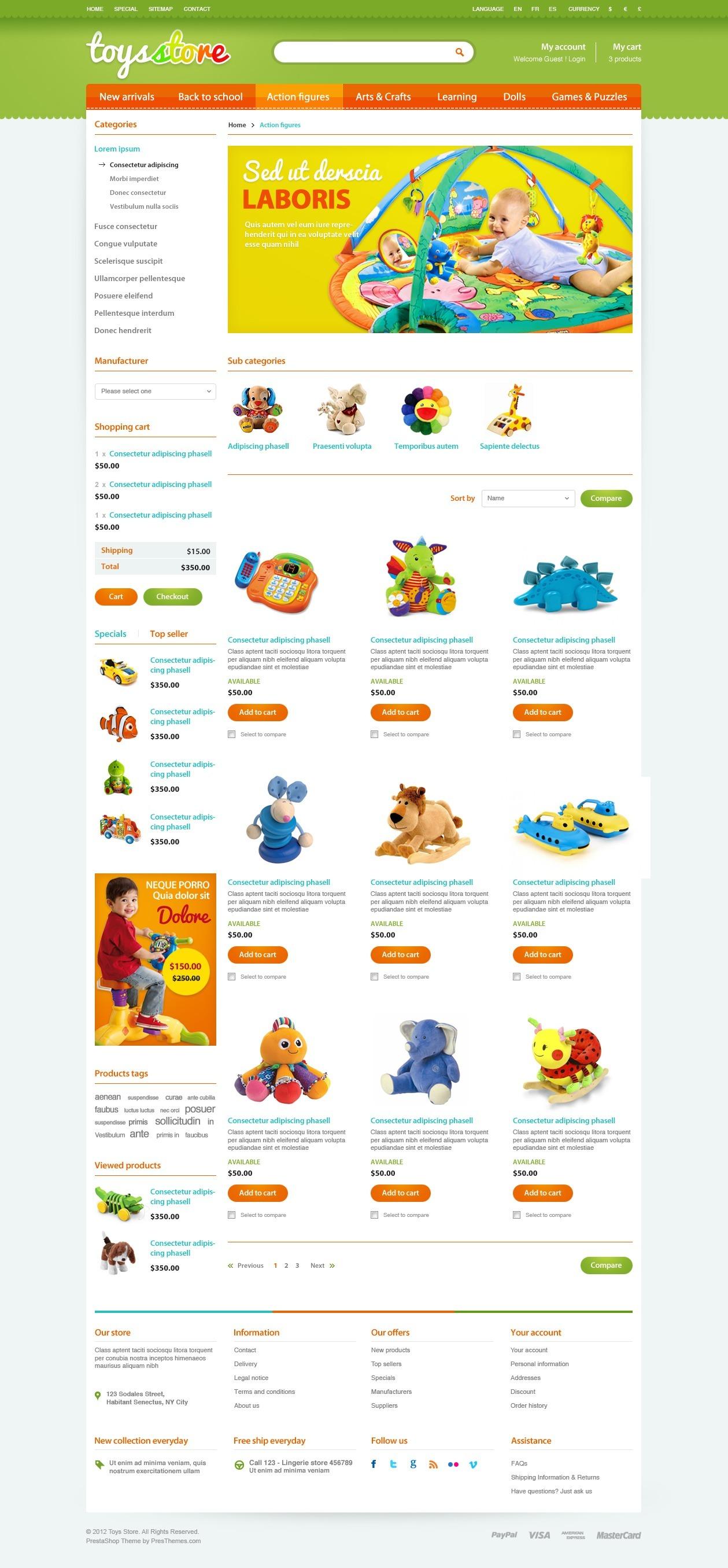 ET Toys Store PrestaShop Template