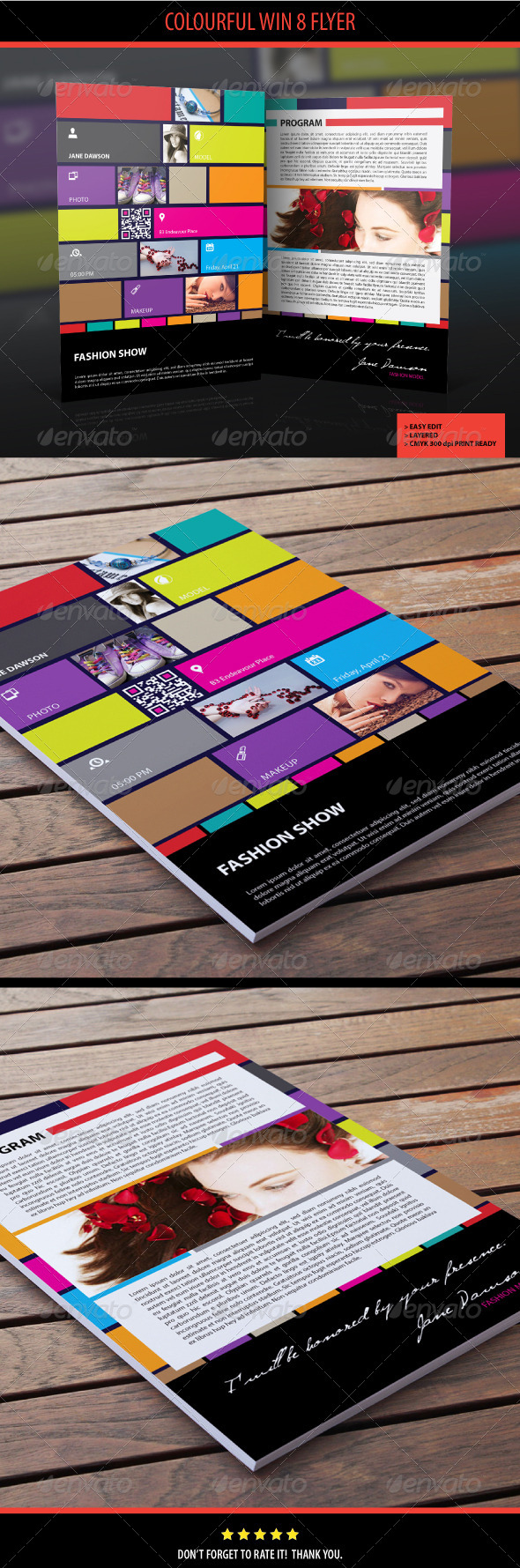 GraphicRiver Colourful Win 8 Flyer 4554286