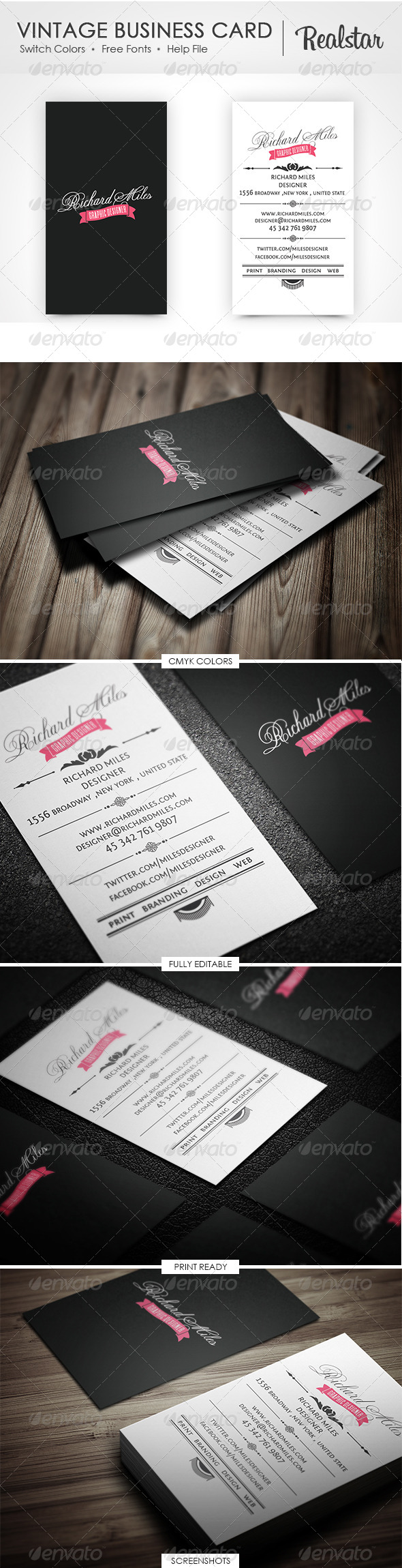GraphicRiver Vintage Business Card 4554368