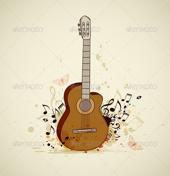 GraphicRiver Guitar and Notes 4554405