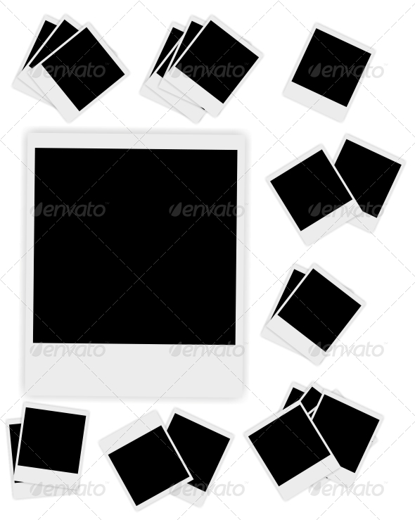GraphicRiver Blank Instant Photos Vector Illustration 4554739