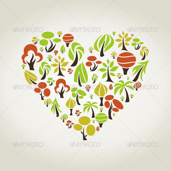 GraphicRiver Tree Heart 4554754