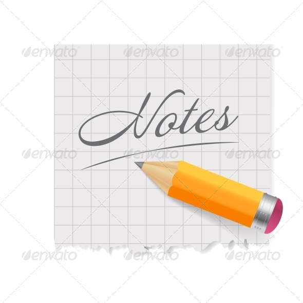 GraphicRiver Pencil and Paper Vector Illustration 4554844