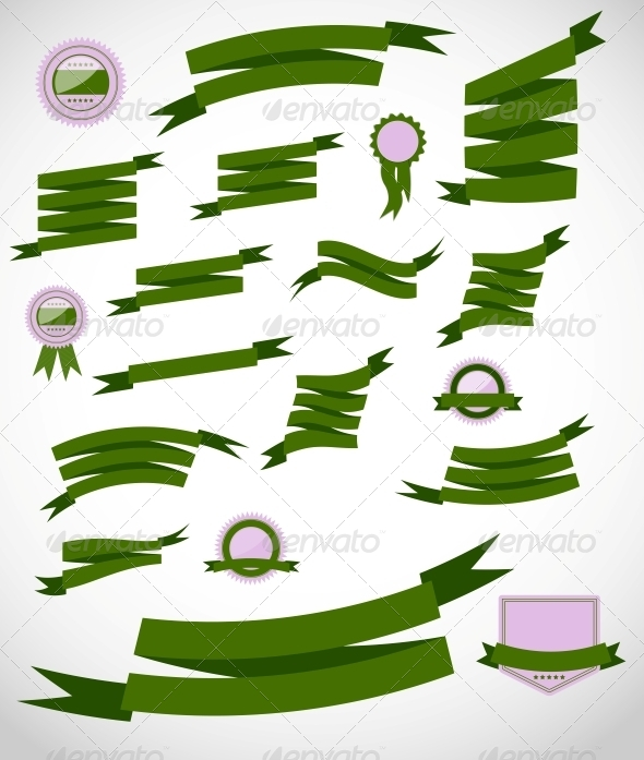 GraphicRiver Set retro ribbons and label vector illustration 4554893