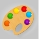 Wooden Art Palette with Paints  - GraphicRiver Item for Sale