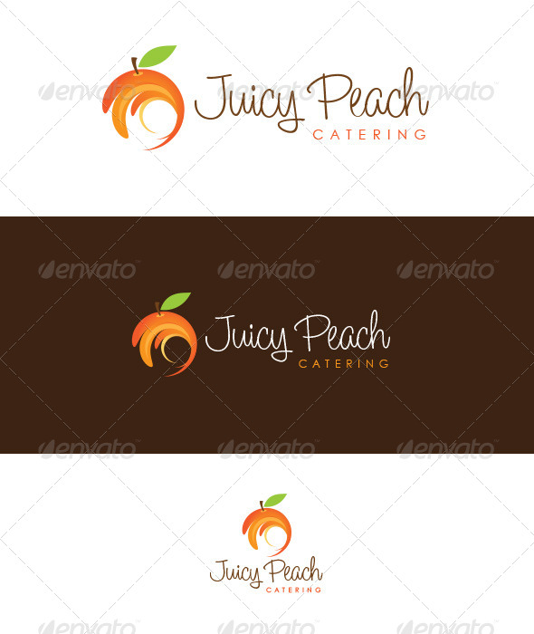 GraphicRiver Juicy Peach Catering 4555071