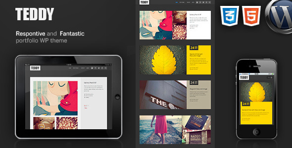 ThemeForest Teddy-Responsive Blog Magazine Portfolio WP Theme 4382207