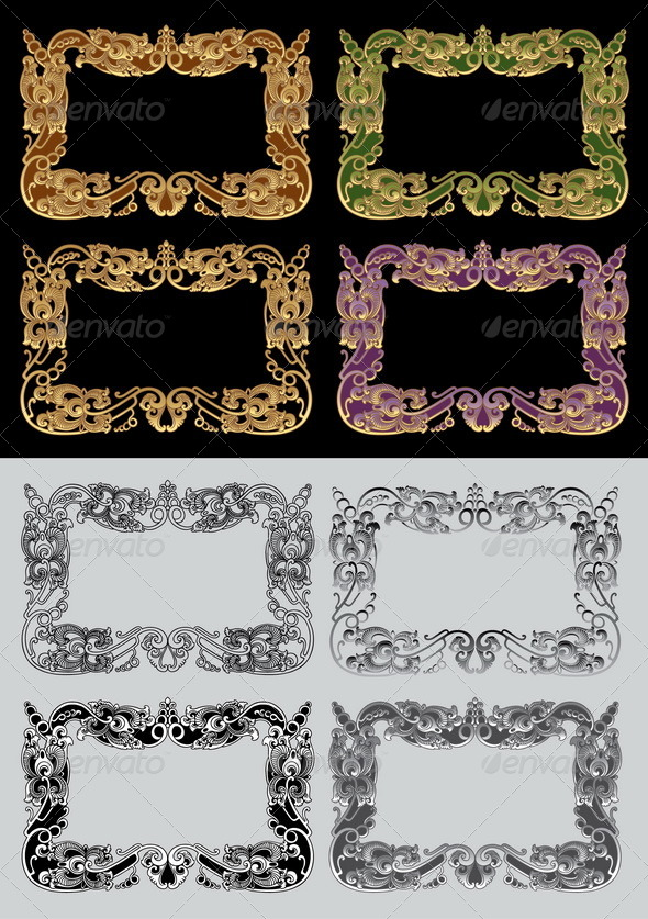 GraphicRiver Balinese Ornament Frame 3 4555179