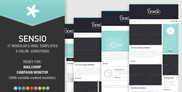 ThemeForest SENSIO 17 modular newsletter templates 4555229