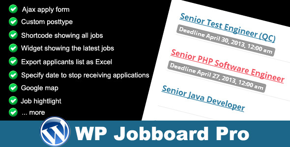 CodeCanyon WP Jobboard Pro Premium Wordpress Plugin 4555293