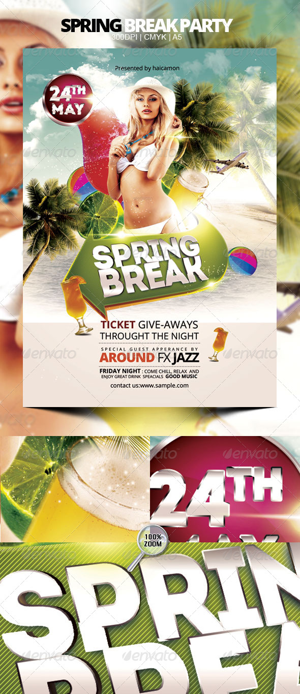 GraphicRiver Spring Break Party 4482664