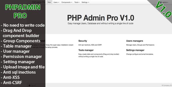 CodeCanyon PHP Admin Pro 4555522