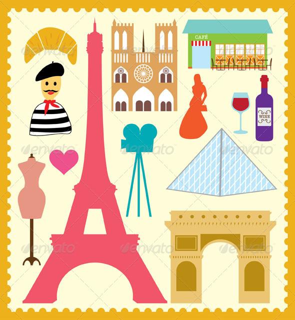 GraphicRiver Paris France Element 4555652