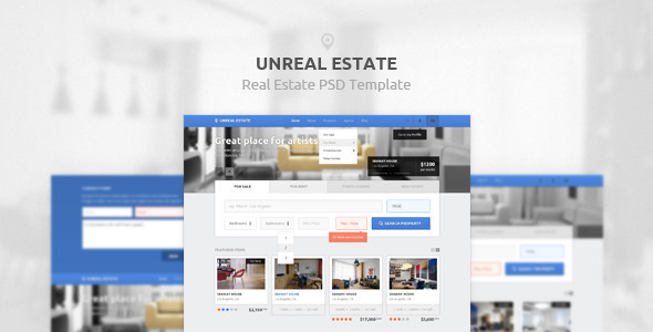 Unreal Estate - Real Estate PSD Template - Business Corporate