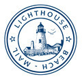 Stamp Lighthouse Beach Mail - PhotoDune Item for Sale