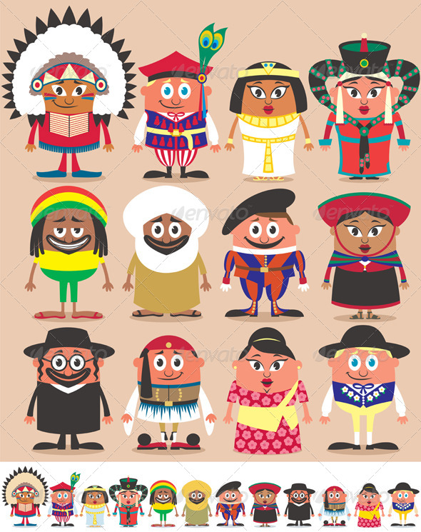 Nationalities Part 3 - People Characters