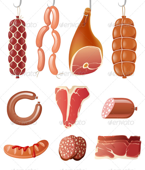 GraphicRiver Meat Icons 4465966