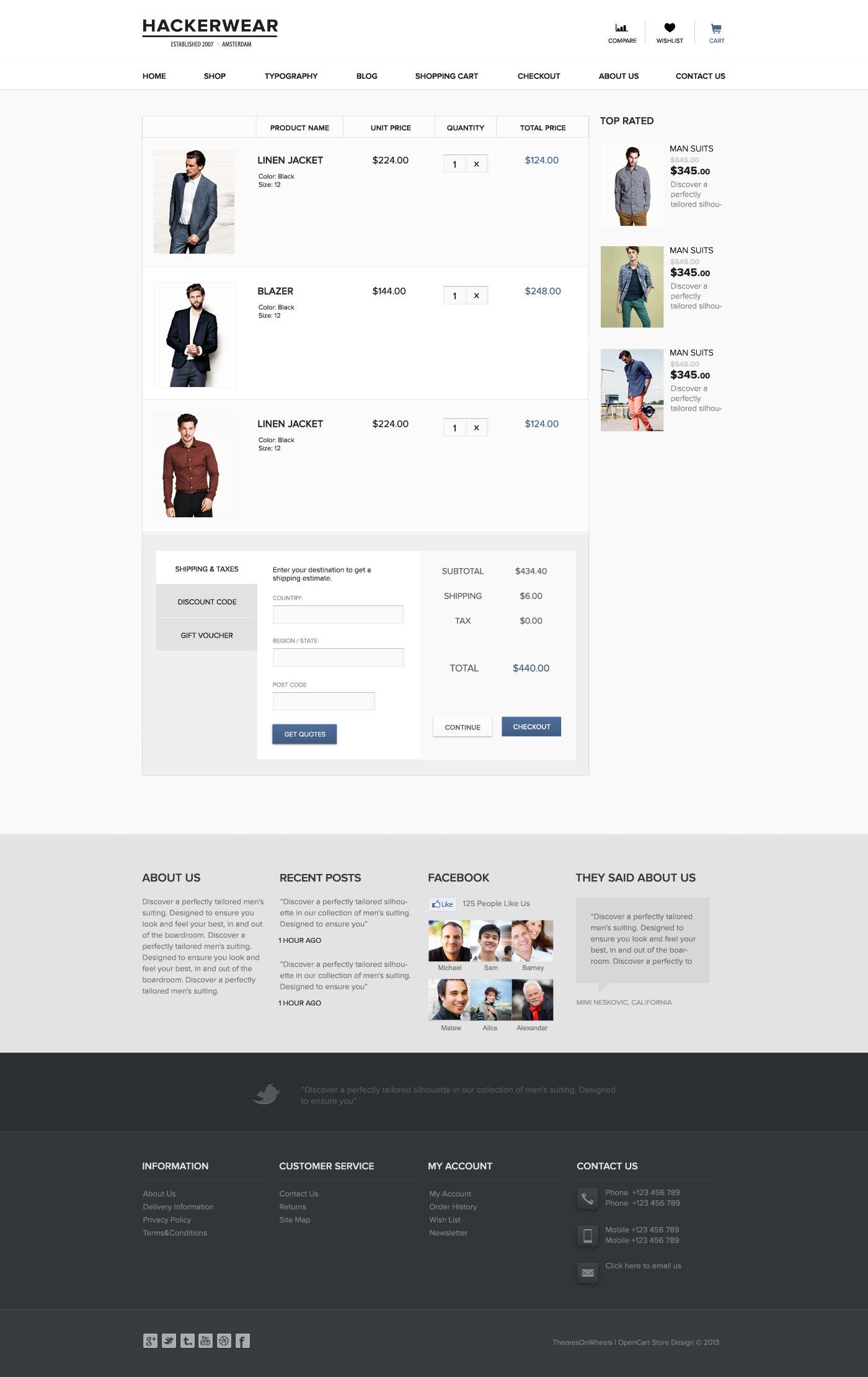 Hackerwear | OpenCart PSD Theme