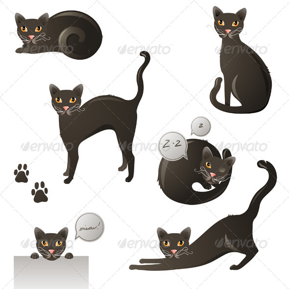 GraphicRiver Black Cat 4555996
