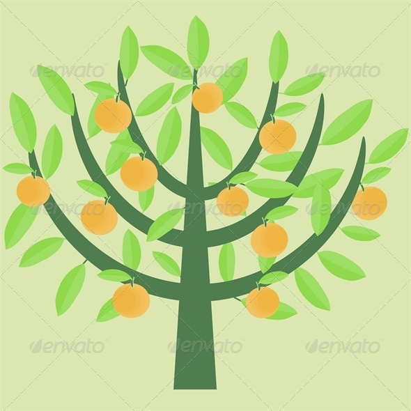GraphicRiver Orange Tree 4556121