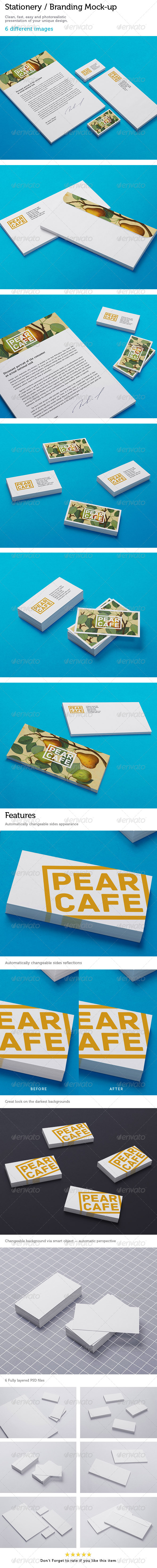GraphicRiver Stationery Branding Mock-Up 4556255