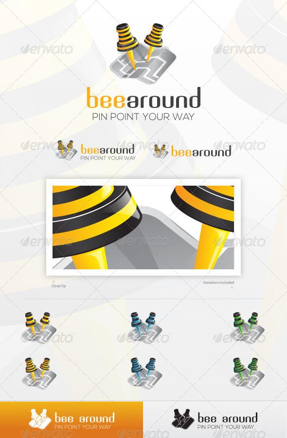GraphicRiver Bee Around Logo 4556259