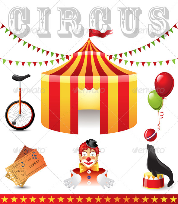 GraphicRiver Circus Icons 4556389