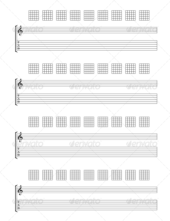 GraphicRiver Guitar TAB Staff 4556458