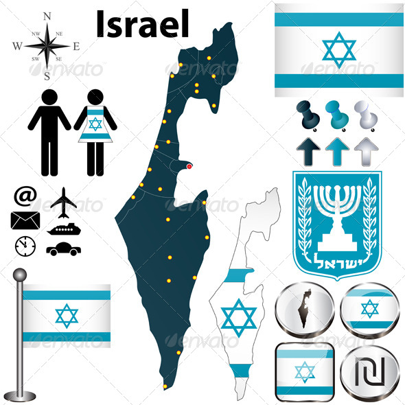 GraphicRiver Israel Map 4556570