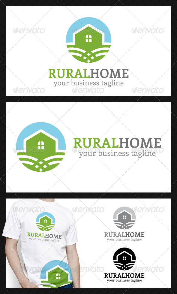 GraphicRiver Rural Home Logo Template 4556579