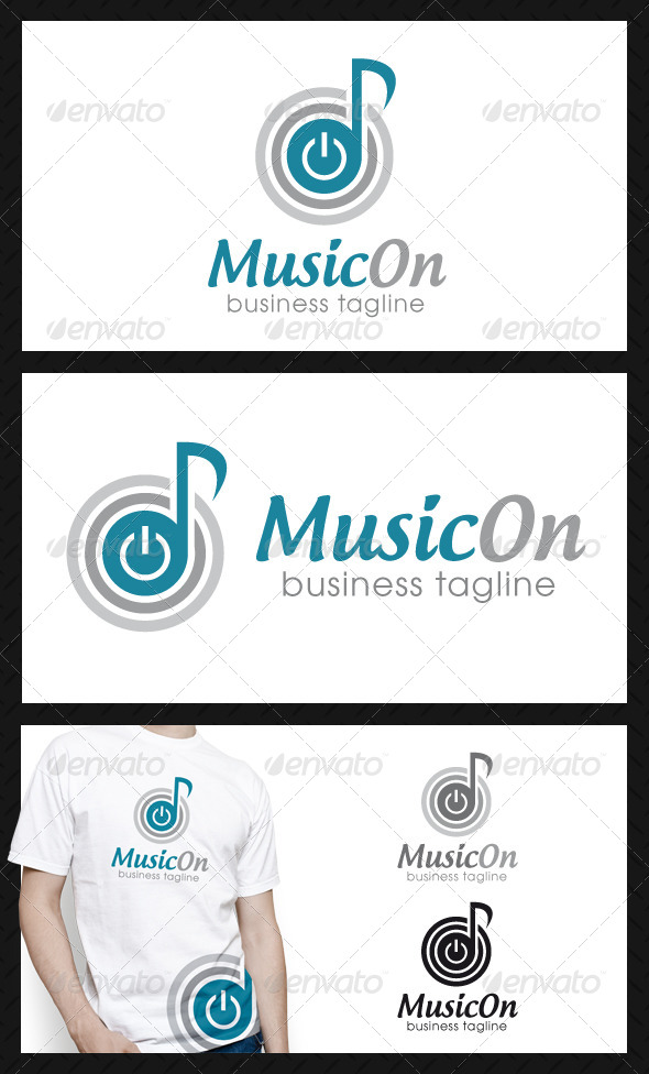 GraphicRiver Power Music Logo Template 4556619