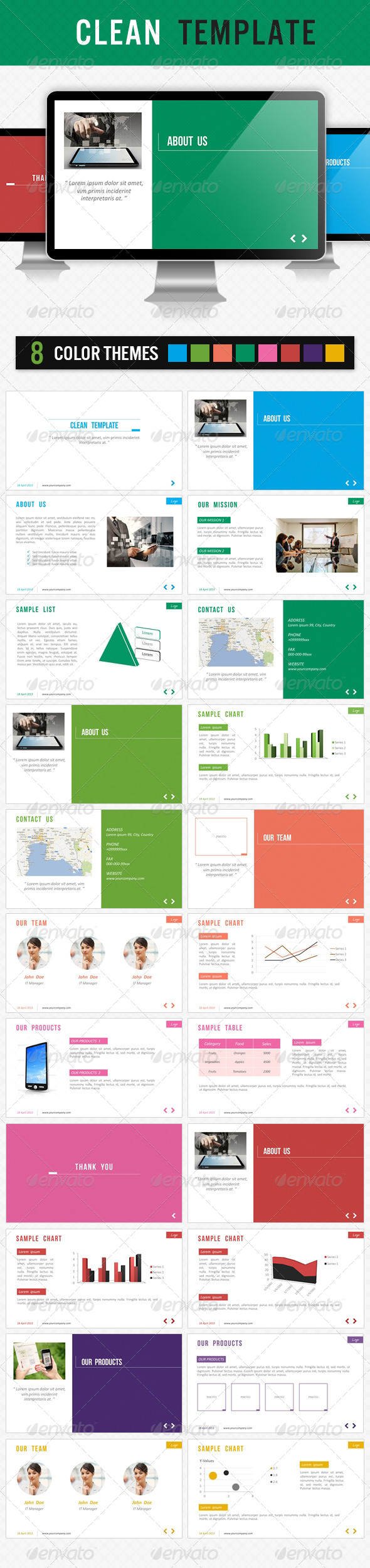 GraphicRiver Clean Template 4556660