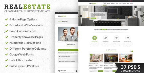 RealEstate| PSD - Miscellaneous PSD Templates
