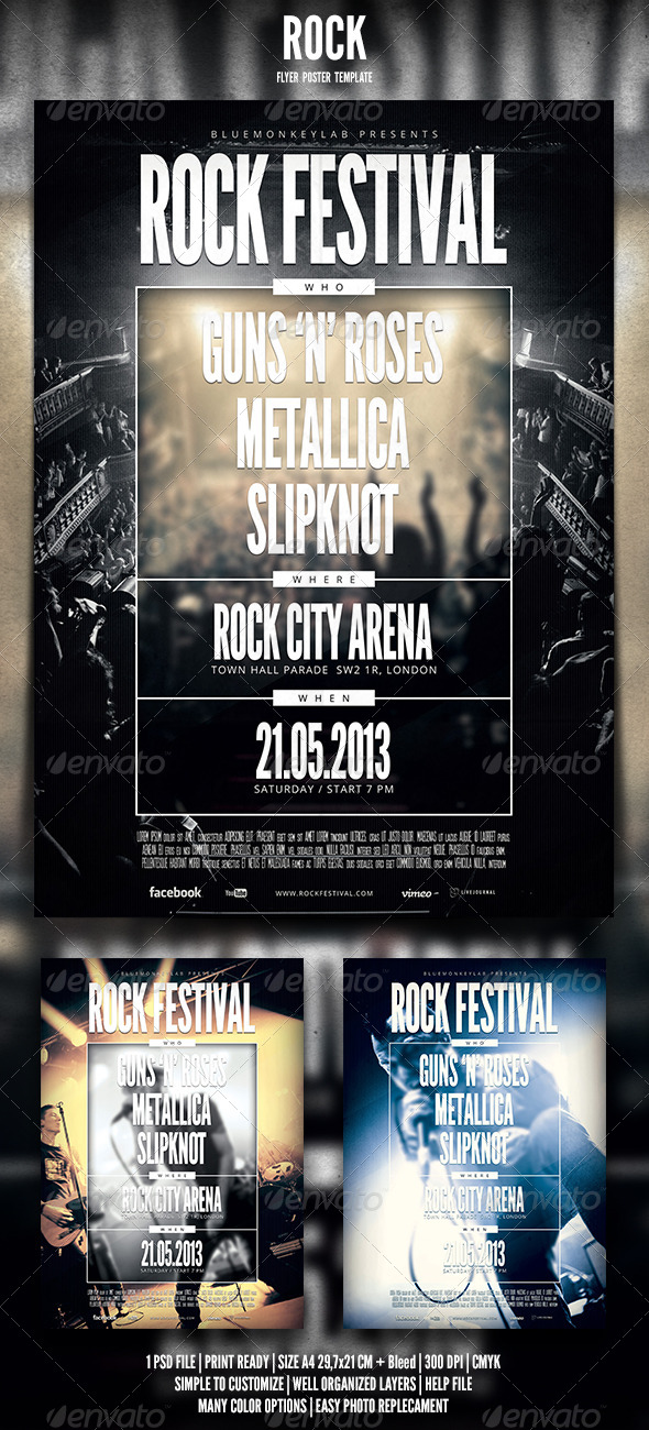 GraphicRiver Rock Flyer Poster 5 4556899