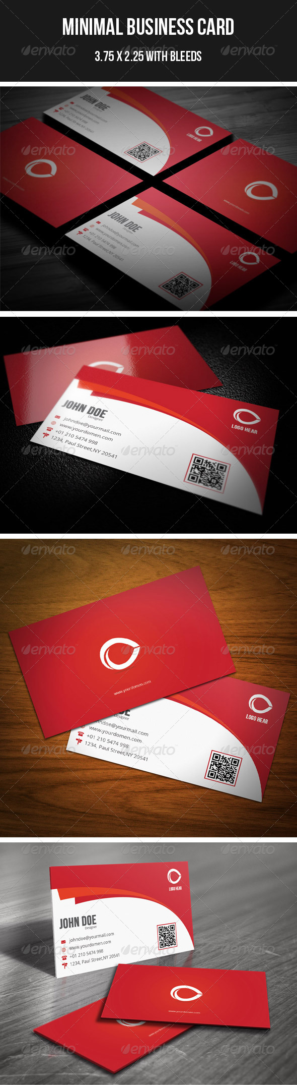 GraphicRiver Minimal Business Card 12 4313383